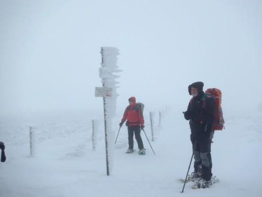 sous la neige sur les cretes des Vosges